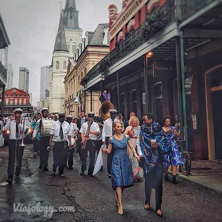 Boda en el Barrio Francés de Nueva Orleans