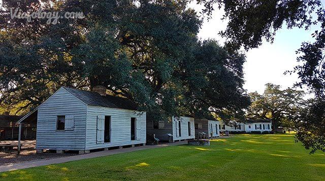 Casas de esclavos en plantación de Luisiana