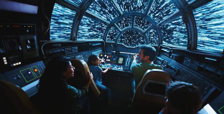 Atracción Halcon Milenario Star Wars