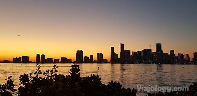 Atardecer en Miami