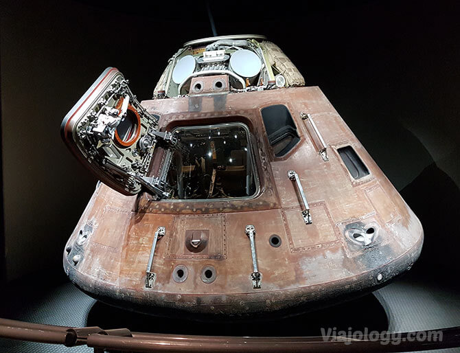 Capsulo Apolo 14 que ver en la NASA en Florida