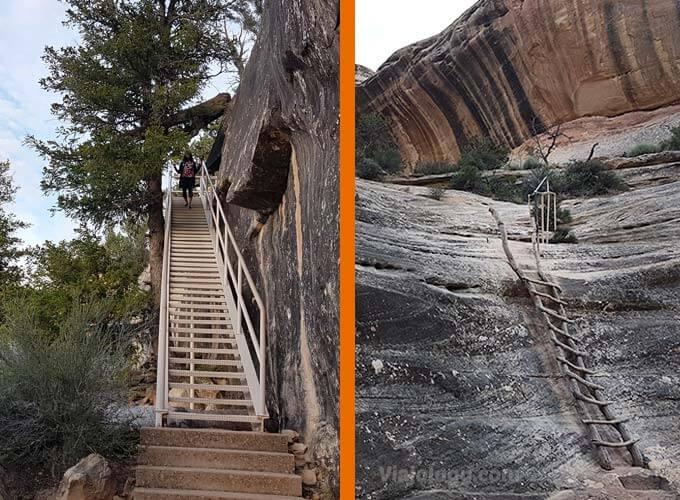 Rutas senderismo en el parque de los Puentes Naturales de Utah