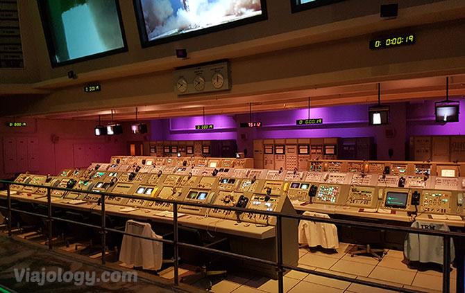 Réplica control lanzamiento de NASA en Florida