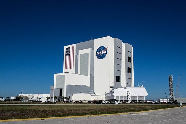 Edificio de ensamblaje de cohetes de la NASA.