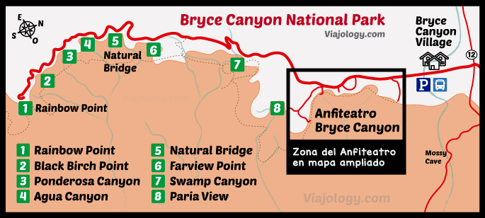 Plano general de Bryce Canyon