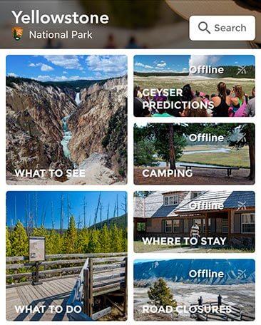 APP de Yellowstone