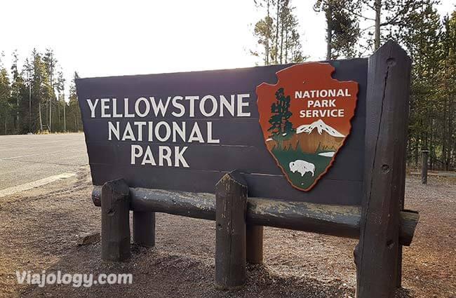 Cartel Parque Nacional de Yellowstone