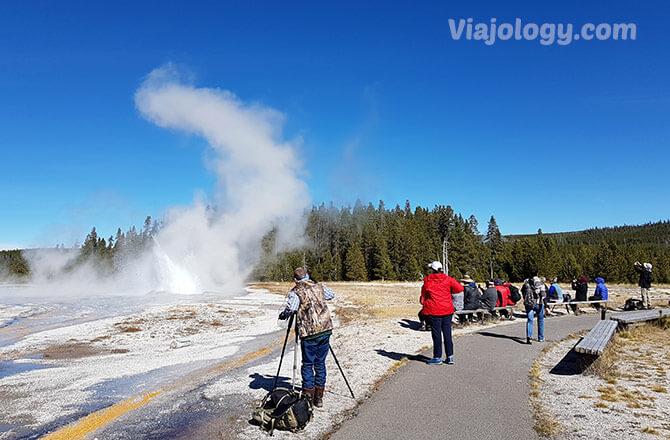 Daisy geyser en Yellowstone