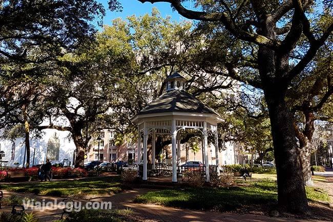 Kiosko de Whitefield Square que ver en Savannah
