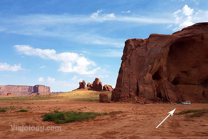 Tamaños en Monument Valley